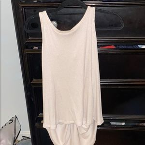 Ribbed knotted back tank
